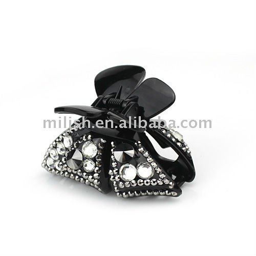 Acrylic claw/fashion hair claws/hair clip with diamond H1062-463