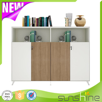 2016 New Design High Wooden File Cabinet With 45 Degree Beveling Concealed Handles ZS-M1640