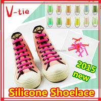 2015 Fancy cheap colorful silicone shoelace for ayakkabi for holiday