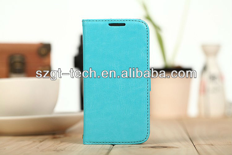 Genuine Leather Wallet case for Samsung Galaxy S4 Mini i9190