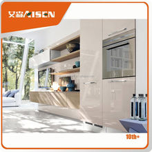 Sample available latest china made white wooden modular kitchen furniture design
