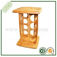 Fancy Bamboo Spice Rack With Round Hole Fake Rack