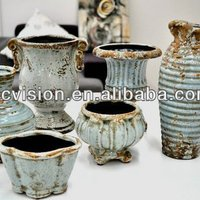 Trophy Cup Shaped Ceramic Pot In