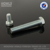 High quality galvanized carbon steel hex bolt DIN 933 hex bolt DIN 931