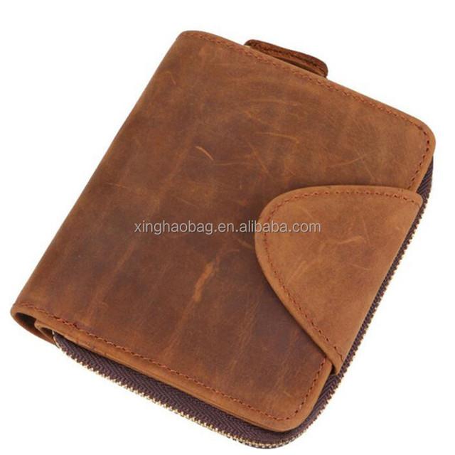 Men's Simple Leather Wallet Brown Color RFID Wallet Wholesale