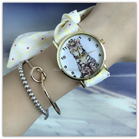 2017 Korean newest design students watches women teenager fashion watches