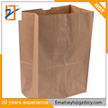 Manufacturer Promotional Brown Kraft Paper Take Away Bag Packaging Paper Bag