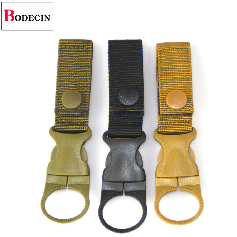 EDC Tactical Gear Military Nylon Webbing For Outdoor Tools Buckle Hook Water Bottle Holder Belt Clip Bushcraft Camp Carabiners (1)