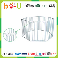 ZJBOU metal adjustable baby playpen with gate for home security equipment