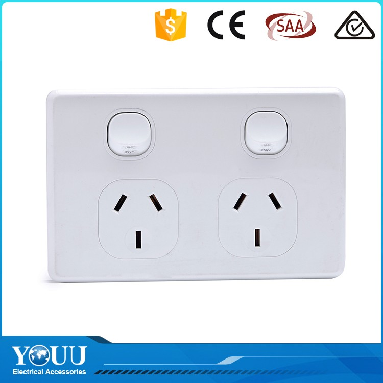 YOUU New Design Australia Double Pole Wall Switch Power GPO Power Point Socket Outlet