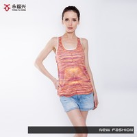 Beautiful new fashion style dyed wholesale tank top