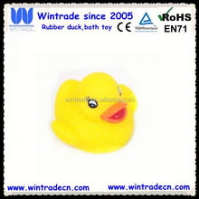Yellow vinyl rubber duck