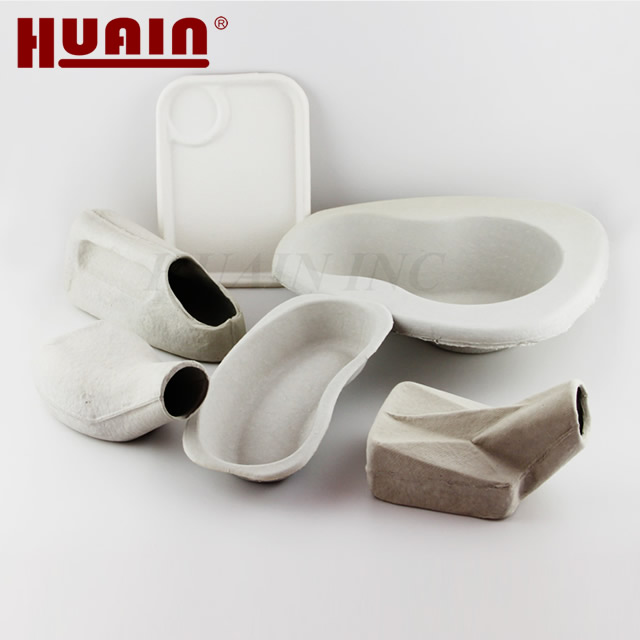 Mass Production Wet Press Pulp Molding Medical Disposable Bedpan