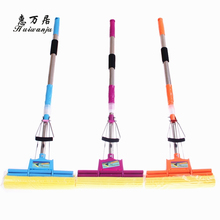 Wholesale Adjustable Squeeze Water Floor Cleaning Magic PVA Sponge Mop