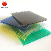 Polycarbonate Twin Wall Hollow Pc Sheets Flexible with UV protection