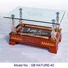 Modern Glass Top Wood Base Coffee Table With Drawer For Living Room Uphosterly Indian Style Furniture