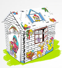Chirstmas carnival Paper doll House kids toy DIY assembly house