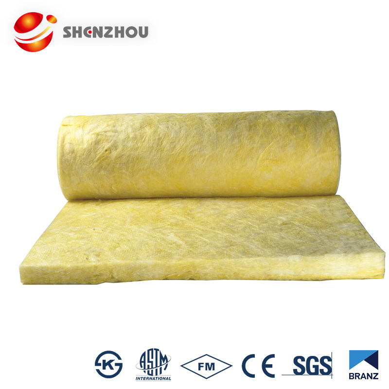 Glass wool thermal insulation blanket faced aluminum foil