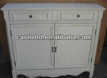 CF30127 White French-style Cupboard Console and Sideboard Two Door Console Table