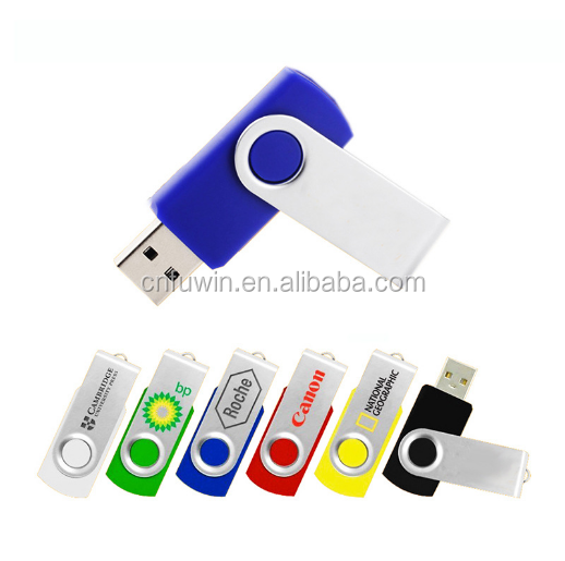 Wholesale 100pcs/lot 8GB capacity swivel USB flash disk for promotional gifts free logo printing
