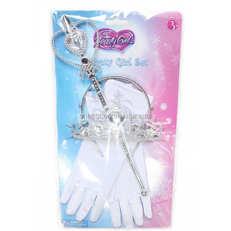 NEW frozen party supplies theme glove,magic wand,tiara frozen princess accessories