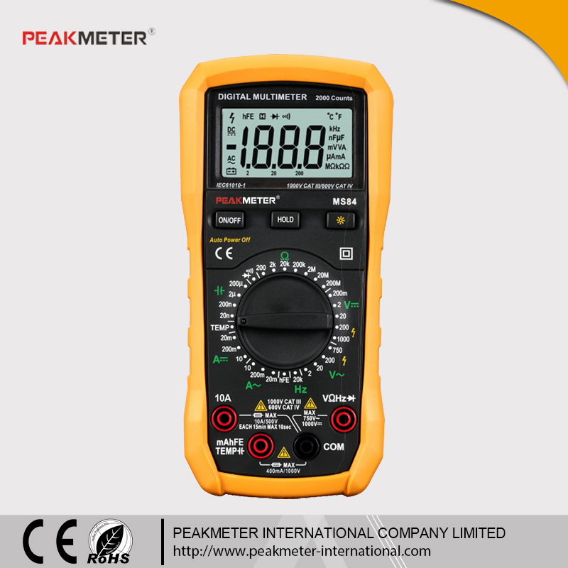 Profession 3 3/4 10MHz Frequency Test NCV Auto Range Multimeter Digital