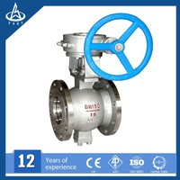 Chemical Liquid Sulfuric acid Corrosion Slurry PN 16 teflon Lined Ball Valves
