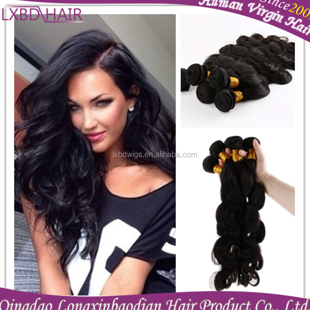 2015 LXBD Factpry Price queen virgin Brazilian Human hair Body Wave Hair extensions