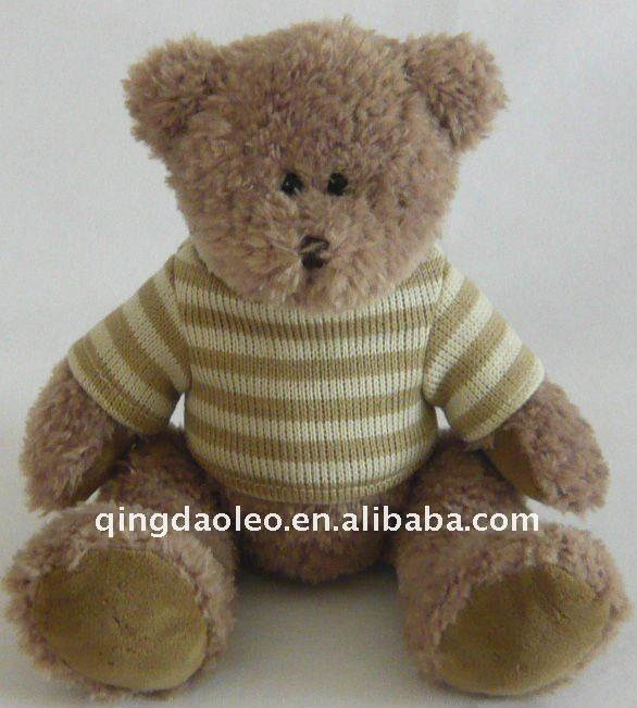 plush sitting bear with sweater