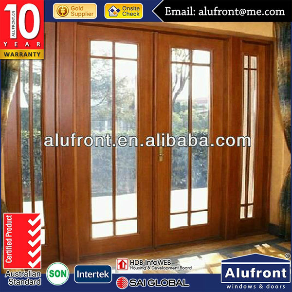 High quanlity Australia Standard AS2047 Aluminum wood cladded inside swing door with double glazing Popular Style In Sydney