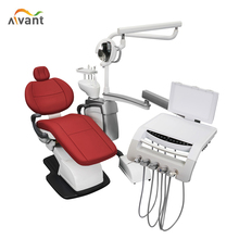 China manufacturer luxury dental chair equipment with LED lamp