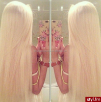 Top Beauty Factory Price 26 Inch Long Blonde 100% Human Hair Blonde White full lace wig white women