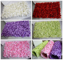 silk artificial hydrangea flower wall wedding decoration backdrop