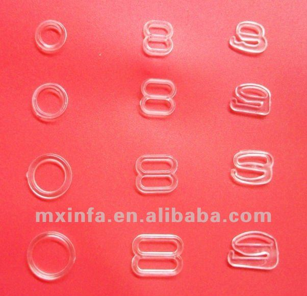6mm-25mm diameter plastic ring and slider for bra strap