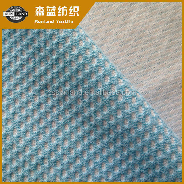 supply cotton polyester air layer fabric in jacquard pattern