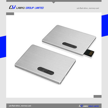 metal 4gb full capacity credit card usb memory with full color printing