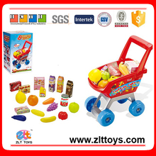Supermarket Shopping Toy Car Shopping Trolley Baby Shopping Cart Toy with fruit