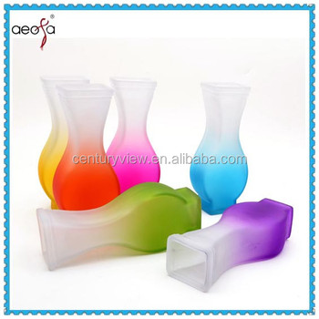 colored glass vase art glass vase