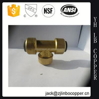 "solar hose fittings of DN12 Brass Tee 1/2"" ,1/2""M-1/2""M- 1/2""M"