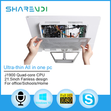 21.5 inch Touch All in One Desktop pc with intel i7 J1900 fanless cpu for office working