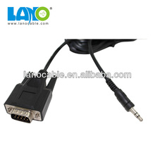 1.8 meter scart to vga with audio converter cable