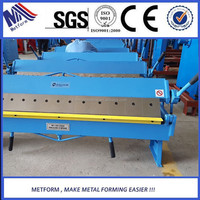 Manual Sheet Metal Pan and Box Brake Folding 1.5x1220 Bending Machine