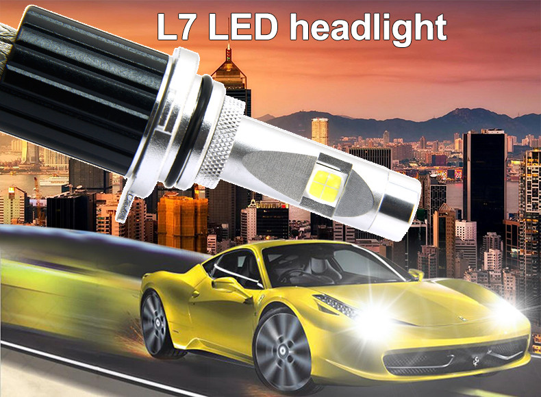 New High Power led light bulb All in One Fanless 60W 6600lm L7 Crees XHP70 H11 Car Led Headlight H11 PJG19 Conversion Kit