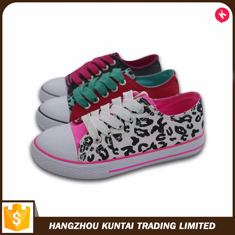 Popular comfortable fashion model style women's canvas shoes
