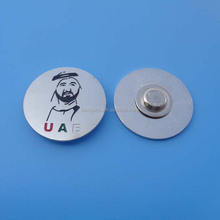 Dubai magnetic metal badge lapel pins with crystal custom wholesale 44 UAE national day souvenir