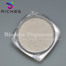 Competitive silver white mica powder pearl pigment for aluminium gilding paint