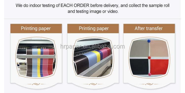 64''/162cm wide sublimation transfer paper no touch print head smooth printing