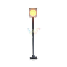 200MM yellow flashing light toll station warning traffic light pole