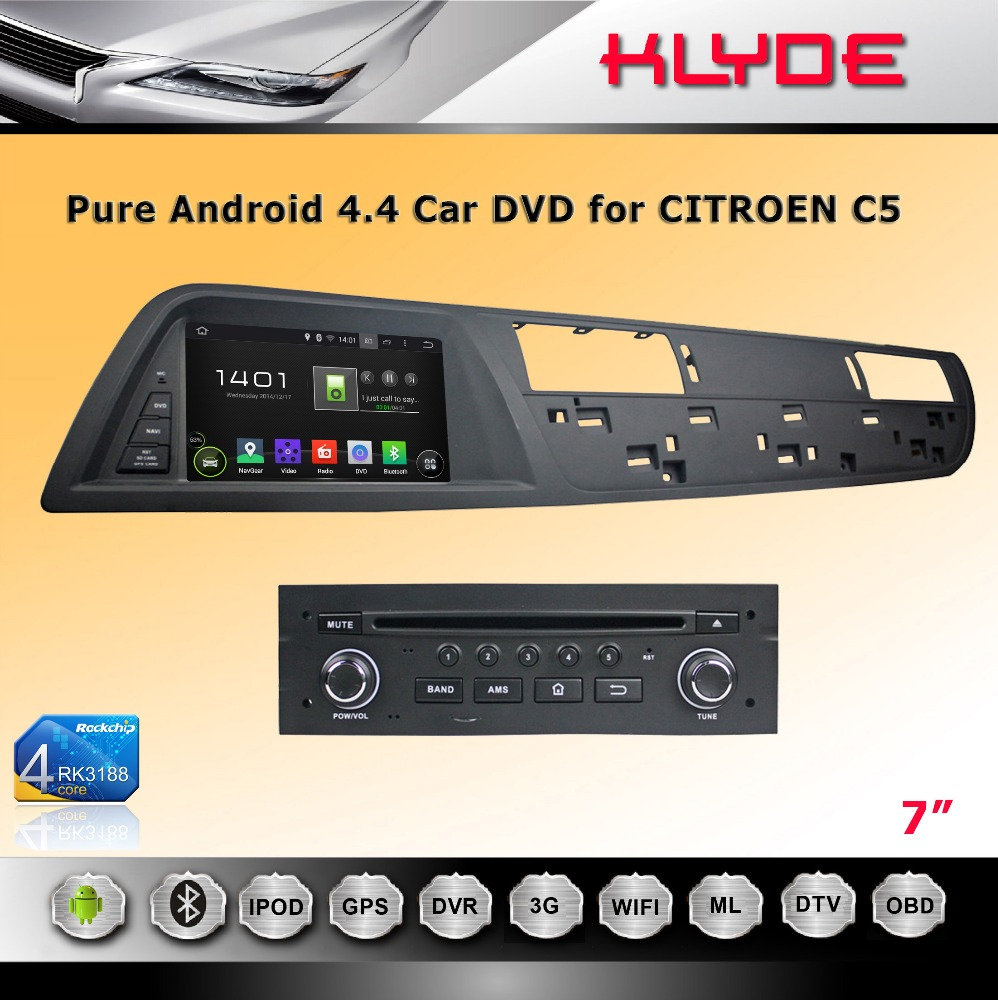 Newest 3G Smart Rearview Mirror DVR android car radio dvd gps navigation system player for CITROEN C5