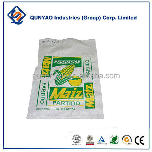 pp woven 50kgs grain corn and rice packaging bags for sale